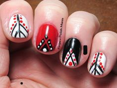 Black, White and Red all over-tribal