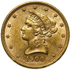 Lot 52: 1900 $10 Gold Unc. Details;