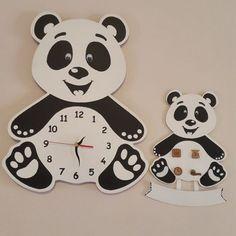 Baby Birth, Panda, Happiness, Clock, Happy, Wall, Decor, Dekoration, Watch