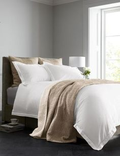 There really is nothing better than sleeping in 100% cotton bedsheets! If your home boasts minimal styling, opt for this stylish bed set fro Next, with a pop of champagne through accessories! Buy 600 Thread Count Cotton Sateen Bed Set from the Next UK online shop