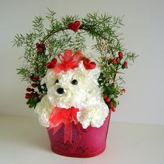 """Express  yourself this Valentine's Day with a flower arrangement that reflects your feelings .  If you're """"head over heels"""" in love what bet..."""