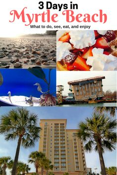 Planning a trip to Myrtle Beach? Here's a look at 3 Days in Myrtle Beach - a great itinerary for things to do, where to eat, attractions to visit, and more. South Carolina Vacation, Myrtle Beach South Carolina, Myrtle Beach Vacation, North Myrtle Beach, Beach Trip, Myrtle Beach Spring Break, Beach Travel, Beach Vacations, Family Vacations