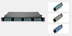 96 Ports Loaded LC FAPs 1RU Rack Mount Fiber Patch Panel Panduit FMT1 Compatible