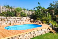 you ensure aesthetic appearance and best comfort at the swimming pool. The ho So you ensure aesthetic appearance and best comfort at the swimming pool. The ho . -So you ensure aesthetic appearance and best comfort at the swimming pool. The ho . Swimming Pools Backyard, Swimming Pool Designs, Above Ground Pool, In Ground Pools, Piscina Intex, Wooden Walkways, Small Backyard Landscaping, Cool Pools, Outdoor Pool