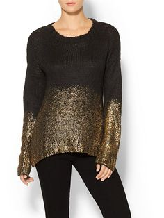 Womens Gold Dipped Sweater