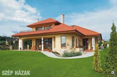 Vidám színek, barátságos hangulat - Szép Házak Dream Home Design, My Dream Home, Spanish Hacienda Homes, Villa, D House, Architect House, Prefab Homes, Design Case, Home Fashion