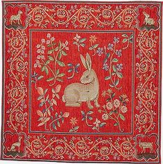 Rabbit Tapestry Pillow | The Morgan Shop | The Morgan Library & Museum
