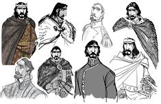 Concept art for the King in Tangled.  Artist Jin Kim.