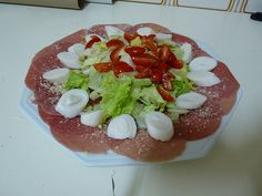 carpaccio com salada