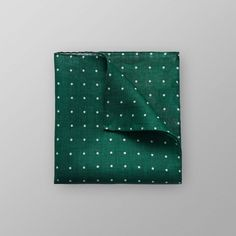 Green Dotted Linen Pocket Square | Eton Shirts UK