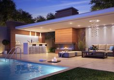The Sole Method to Use for Patio and Outdoor Gazebo Design Ideas Uncovered -. - The Sole Method to Use for Patio and Outdoor Gazebo Design Ideas Uncovered – homesuka - Outdoor Gazebos, Outdoor Rooms, Minimalist House Design, Modern House Design, Modern Pool House, Modern Outdoor Kitchen, Outdoor Kitchens, Luxury Kitchens, Backyard Patio Designs