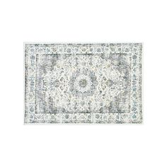 nuLOOM Bodrum Verona Framed Floral Rug, Grey, Durable