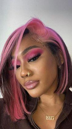 Dyed Natural Hair, Dyed Hair, Baddie Hairstyles, Pretty Hairstyles, Black Girls Hairstyles, Curly Hair Styles, Natural Hair Styles, Ponytail Styles, Wig Styles