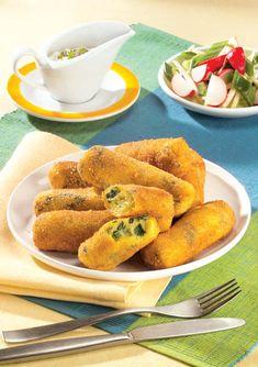 Crochete de brânză cu verdeaţă
