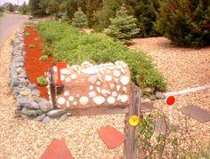 Seashell mailbox photo.