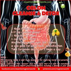 Colon Cleanse & Detox- hmmm maybe I should try this.