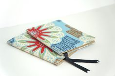 DIY fabric notebooks -- next annual pocketbook?