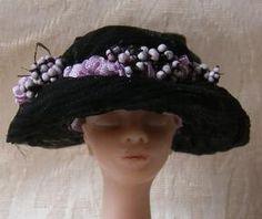 Miss Amelia Miniature Mourning Millinery