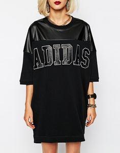 Agrandir Adidas Originals - Robe avec grand logo Adidas