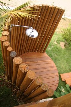 Awesome 34 Astonishing Outdoor Shower Design Ideas For Bathroom Inspiration Outdoor Baths, Outdoor Bathrooms, Diy Bamboo, Bamboo Crafts, Outside Showers, Outdoor Showers, Pergola Diy, Garden Shower, Pool Shower