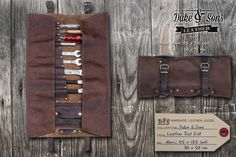 DUKE & SONS MXS LEATHER – TOOL ROLL