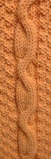 Eccentric Cable Knitting Stitch Pattern . Knitting on the Net.