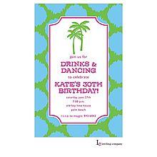 Preppy Palms Luau Invitations