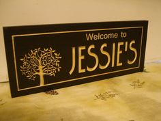 Carved Sign Wood Last Name Family Tree by BenchmarkSignsGifts