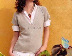 Пуловер реглан с V-образным воротником