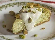 I made this and everyone loved it.  A wonderful homemade cheesecake with ground pistachios baked right in!