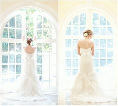I would do an indoor bridal session if there were BIG windows!