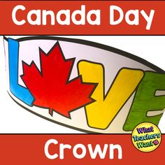 Celebrate Canada! I created this crown for my class of big kids to do with their little buddies just before school lets out the end of June. TFor the Best Crown:-Colour prior to cutting and stapling-Copy on construction paper or card stock. -Use the page of 3 bands (you'll only need 1 per student, s... Sentence Strips, Canada Day, Construction Paper, Big Kids, Card Stock, Bands, June, Student, Crown