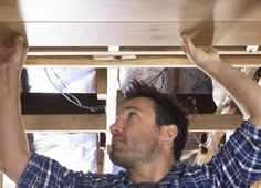 How to install timber flooring as a ceiling feature | Godfrey Hirst | The Home Team | Get this look with Villa Timber Flooring