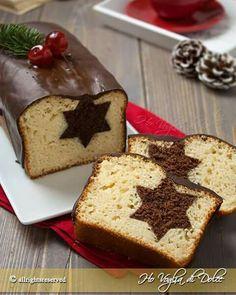 it wp-content uploads 2015 11 Plumcake-di-Natale-con-stella-a-sorpresa-ricetta. Xmas Food, Christmas Sweets, Christmas Cooking, Christmas Star, Sweet Recipes, Cake Recipes, Dessert Recipes, Plum Cake, Savoury Cake