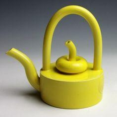 Yellow Teapot with Fruit Lid, 2011  Glazed earthenware