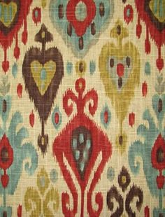I love all the color in this pattern and the red is more cranberry which is what we need :)