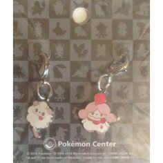 Pokemon Center 2014 Swirlix Slurpuff Set of 2 Charms