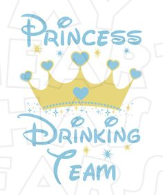Princess Drinking Team INSTANT DOWNLOAD digital clip art :: My Heart Has Ears. How to make an iron on transfer: http://myhearthasears.com/faq/