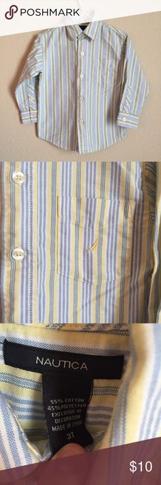 Nautica striped button up shirt Blue and yellow striped shirt Nautica Shirts & Tops Button Down Shirts