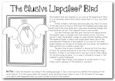 """April Fool's Day Classroom Fun!!! :: My school kids did this today, and it was a riot watching them sing """"lirpaloop"""" in hopes of finding the elusive bird. Too funny."""