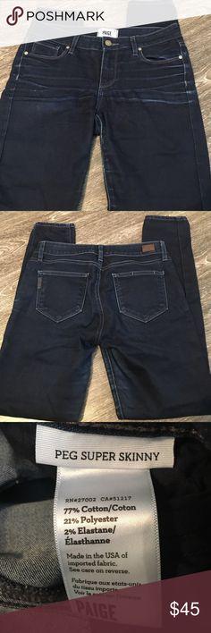 Paige Denim Size 29 Peg Super Skinny Jeans GUC, Peg Super Skinny size 29. Paige Jeans Jeans Skinny