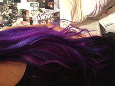 Blue and purple hair!x