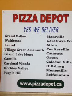 Day 251 of 365 – Orangeville's Pizza Depot Montgomery Village, Guy Names, Places To Eat, Restaurants, Pizza, Canada, Day, Food, Essen