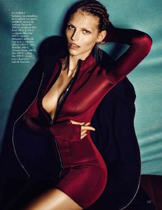 visual optimism; fashion editorials, shows, campaigns & more!: deporte urbano: karlina caune by hasse nielsen for vogue spain january 2015