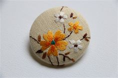 Vintage, Doily Fabric Brooch