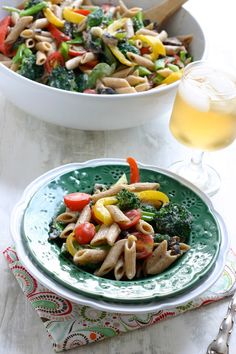 Pasta Primavera - so good and easy!  I used totally different veggies (carrots, spinach, mushrooms) but it was the easy cheese sauce that pulled it together!
