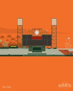 Minimalist Illustrations of Major League Baseball Stadiums by Marcus Reed