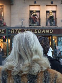 Grey hair in Madrid