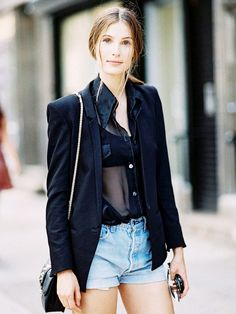 Outfit Ideas for Styling Your Basic Black Blouse (via Bloglovin.com )