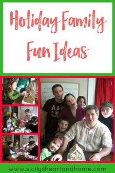 Holiday Family Fun Ideas | The holidays is the perfect time to relax and spend some quality time with your family. Click through for some holiday family fun ideas.
